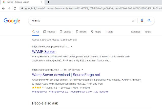 search wamp in google