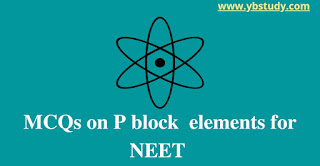P-block element mcqs for NEET