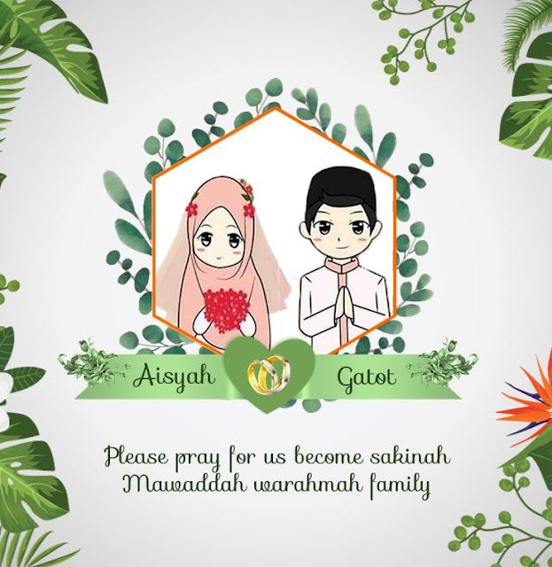 template ppt undangan pernikahan islami gratis