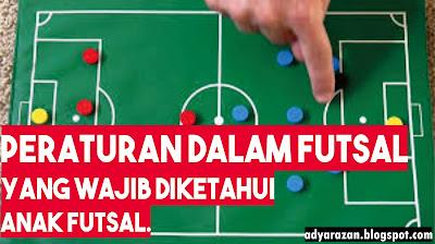 peraturan yang harus dipatuhi saat bertanding Peraturan Dalam Olahraga Futsal, Anak Futsal Wajib TAHU
