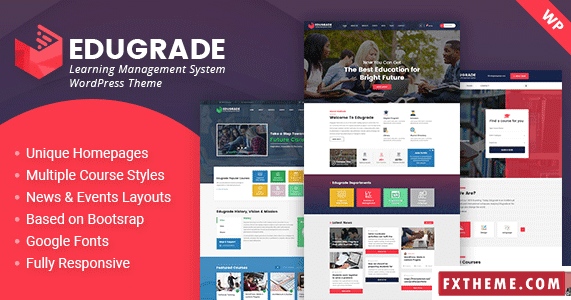 Edugrade Education Wordpress Theme College College Theme Educati
