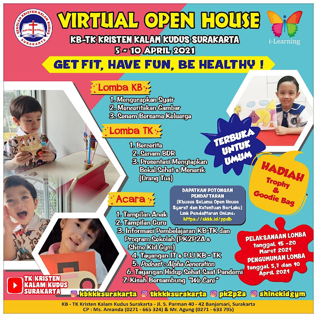 Get Fit, Have Fun, Be Healthy! | Virtual Open House KB-TK Kalam Kudus 2021