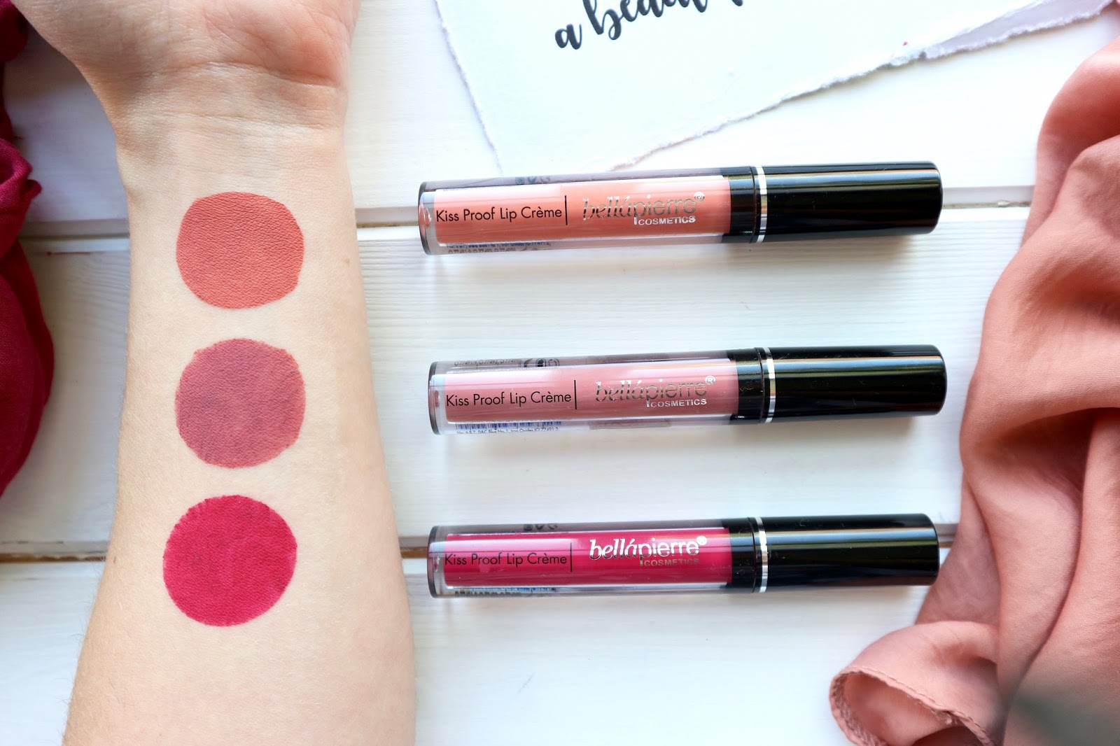 Trying A Trend Liquid Lipsticks Bellpierre Kiss Proof Lip Ecer No 4 Crme Shades Top To Bottom Coral Stone Antique Pink Hibiscus