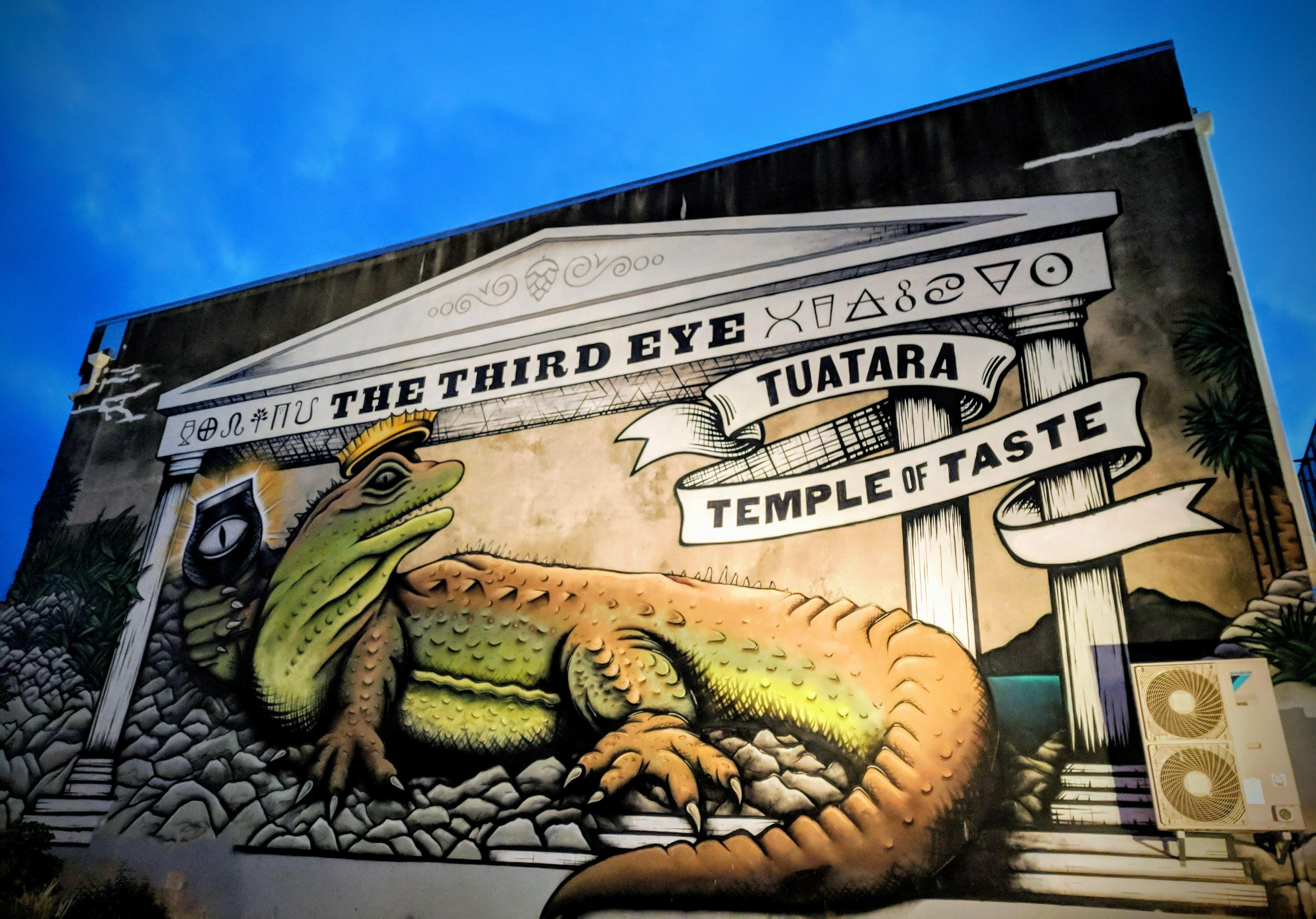 Third Eye brew bar mural, Wellington (AoNZ)