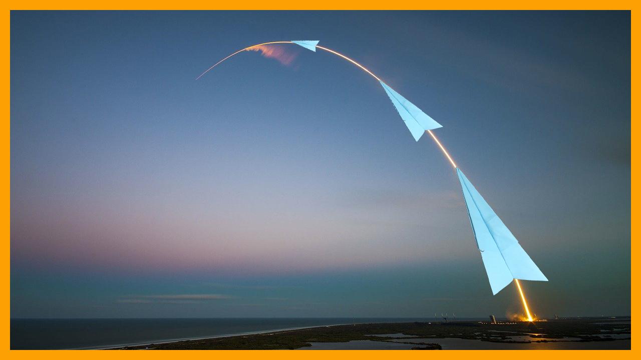 Comment faire un avion en papier vole loin et haut - Meilleur fusée de papier