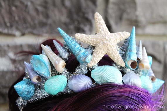 Make your own seashell crown for a mermaid princess