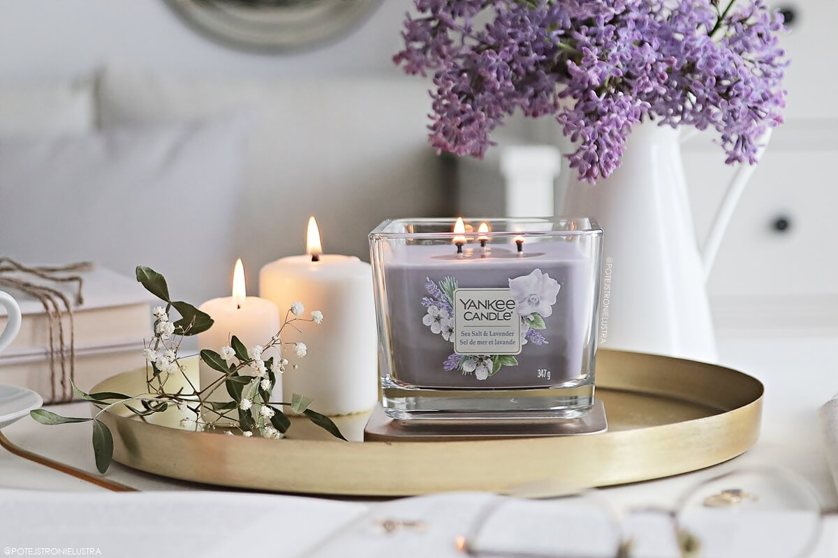 yankee candle sea salt & lavender blog recenzja