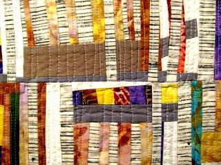Summer Aspen improv quilt by Monica Curry | Detail 1