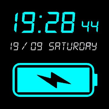 Digital Clock & Battery Charge (MOD, VIP Unlocked) APK For Android