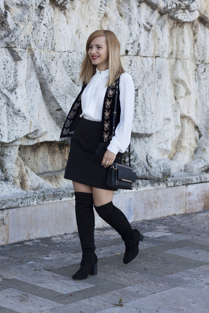 vision on fashion black and white outfit