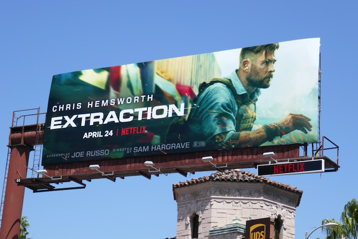 Extraction movie billboard