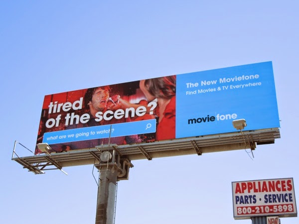 Tired of the scene Moviefone billboard