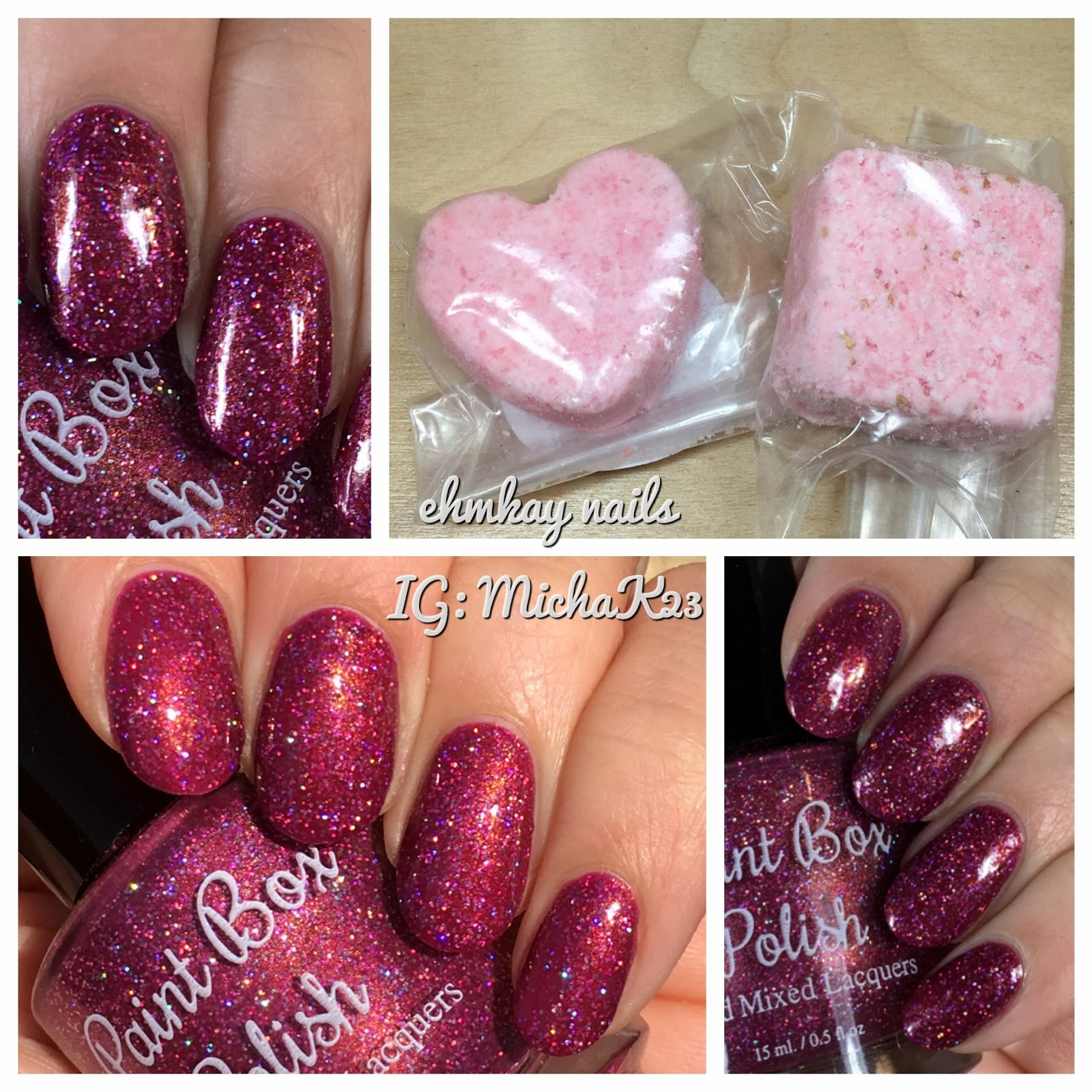 Paint Box Polish LE Valentines Day Set Loves Keen Sting And Two Mani Fizzes