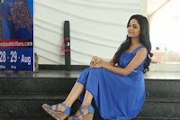 Divya Nandini stunning Beauty in blue Dress at Trendz Exhibition Launch ~  Celebrities Galleries 029.JPG