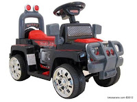 Mobil Mainan Aki Pliko PK6000N Twin Air Jeep