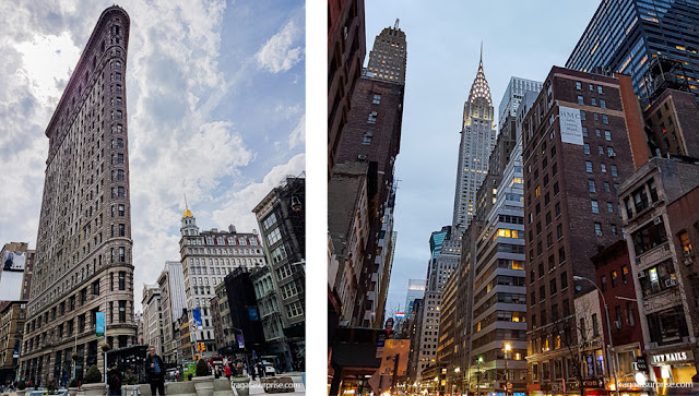 Edifícios famosos em Nova York: Flatiron Building e Chrysler Building