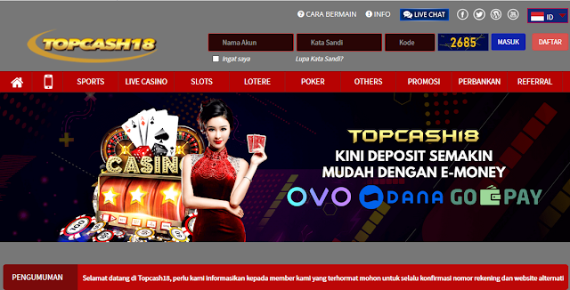 Judi Casino Slot Dengan Promo Menarik | Topcash18.biz