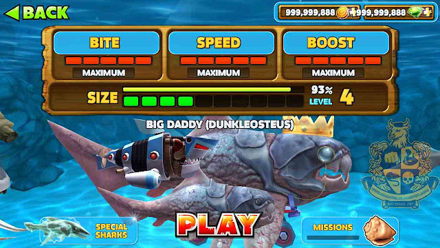 cara cheat hungry shark evolution unlimited gem dan unlimited money