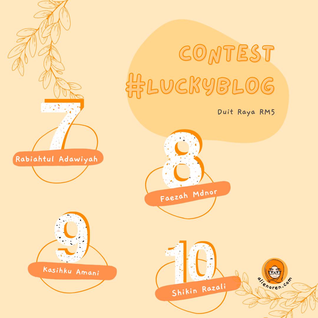 Pemenang Contest #luckyblog top 10