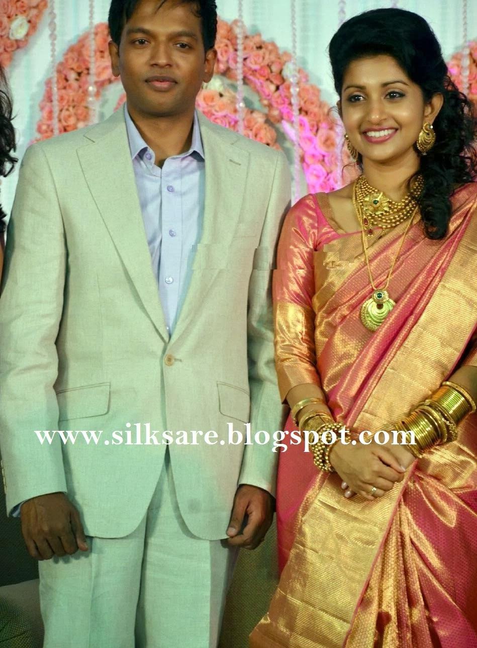 LATEST INDIAN WEDDING SILK SAREEJEWELLERYWEDDING HAIR STYLE