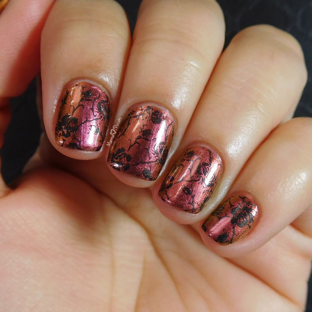 Rose Stamping With China Glaze And Moonflower Polish Mama Hearts