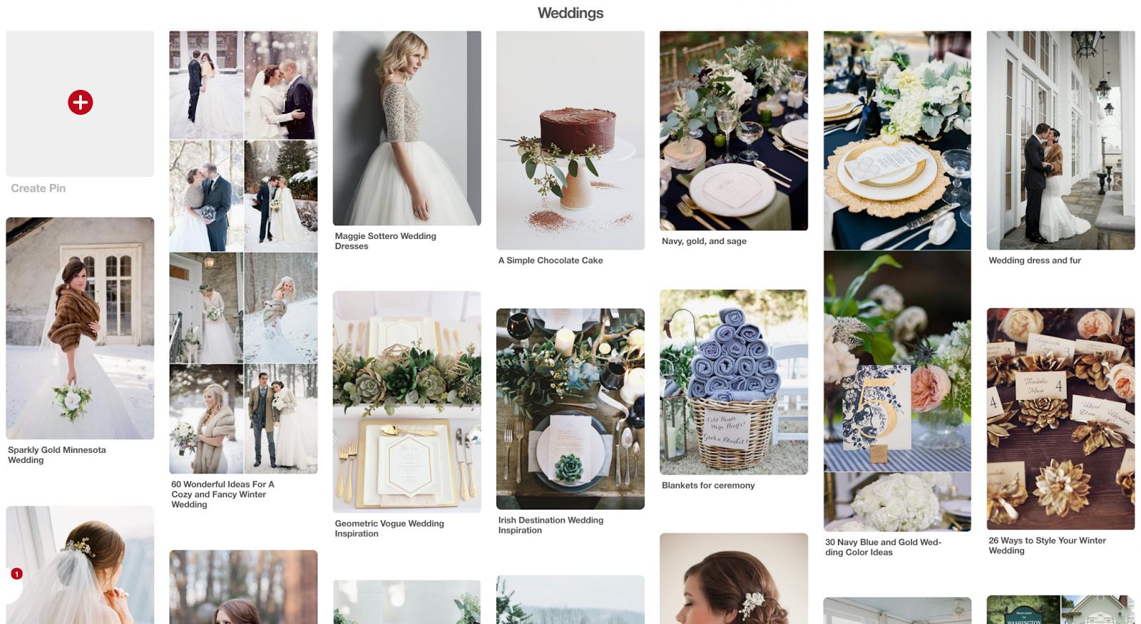 wedding inspiration - wedding pinterest board - winter wedding inspiration