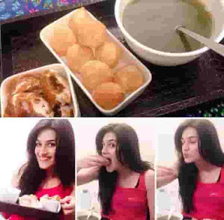 Kriti Sanon Eating Pani Puri