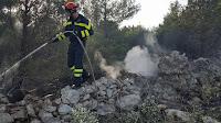 Požar Povlja, područje Tatinje slike otok Brač Online