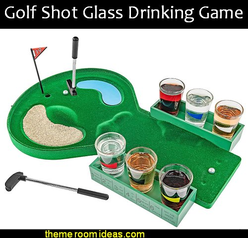 Golf Shot Glass Drinking Game man cave decorations sports lounge decor