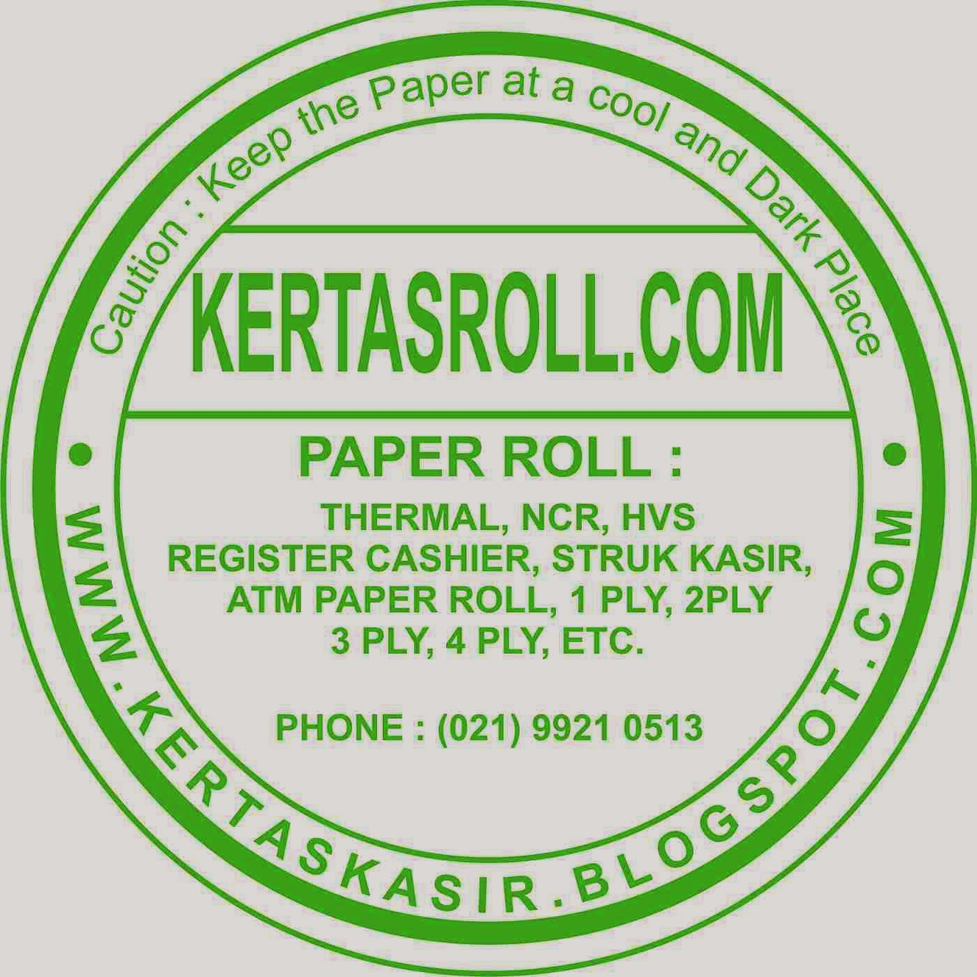 kertas roll struk kasir register cash paper roll manufacturer
