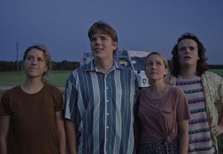 In the picture, (L-R) Hannah Black, Owen Scheid, Megan Petersen and Drew Scheid in Drought.