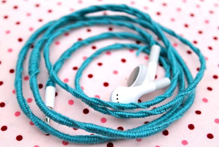 iple kulaklık kablosu kaplama