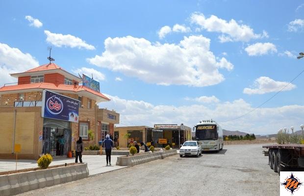 Verso Yazd. Sosta in area di servizio