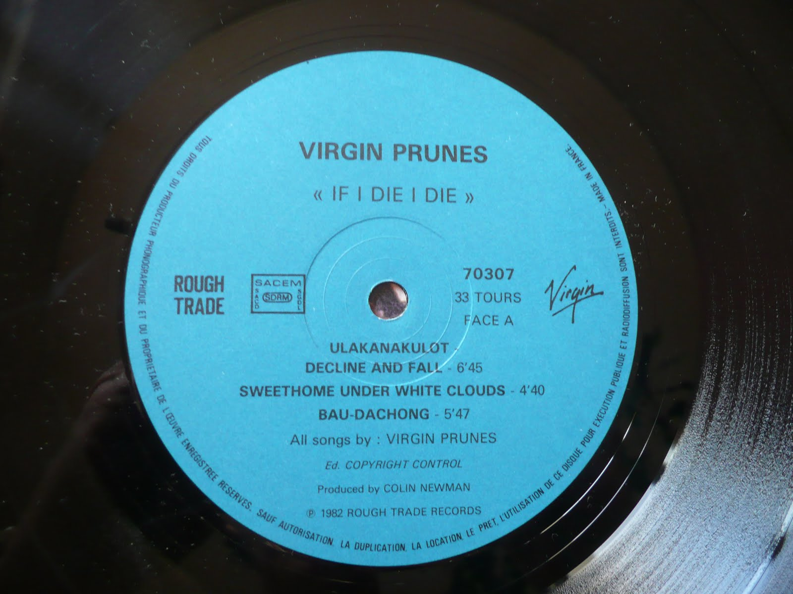 Vinylomaniac Virgin Prunes If I Die I Die