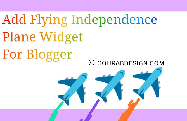 Flying independent plane widget for blogger