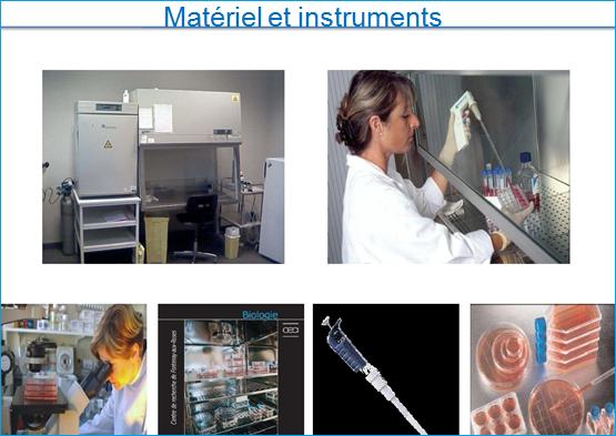 Matériel et instruments