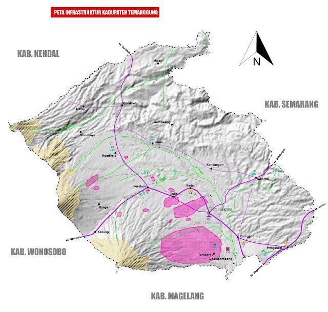 Gambar Peta infrastruktur kabupaten Temanggung