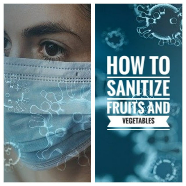 how to sanitize fruits and vegetables