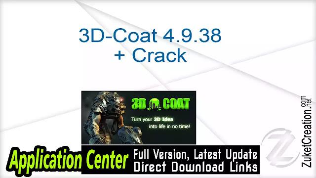 3D-Coat 4.9.38 + Crack