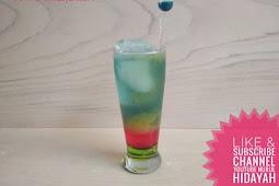 Cara Mudah Membuat Minuman Mocktail, Rainbow Juice yang Segar Dan Nikmat