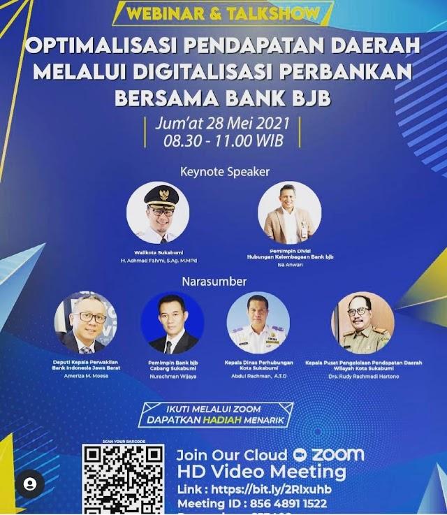 """bank bjb Cabang Sukabumi Gelar Webinar """"Optimalisasi Pendapatan Daerah Melalui Digitalisasi Perbankan"""""""