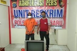 Polisi Amankan Pencuri TV pada Rumah Kosong di Ayahanda Medan