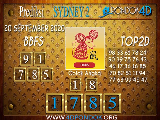Prediksi Togel SYDNEY 2 PONDOK4D 20 SEPTEMBER 2020
