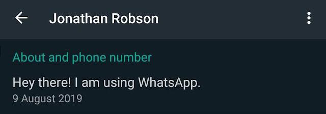 حالة WhatsApp