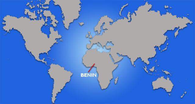 Gambar Peta letak negara Benin