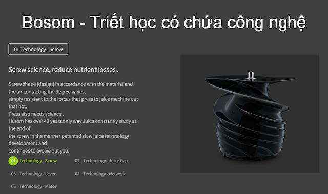 Máy ép chậm - HUROM BLOSSOM, Blossom - Triết học có chứa công nghệ mua tại lgvietnam.top