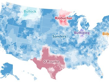 Visualizing Data-Detailed #Maps Of Donors Powering 2020 #Democrat Campaigns