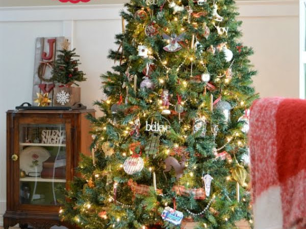 Our Eclectic Christmas Tree - every ornament has a story!