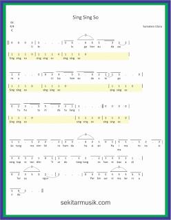 not angka sing sing so lagu daerah sumatera utara