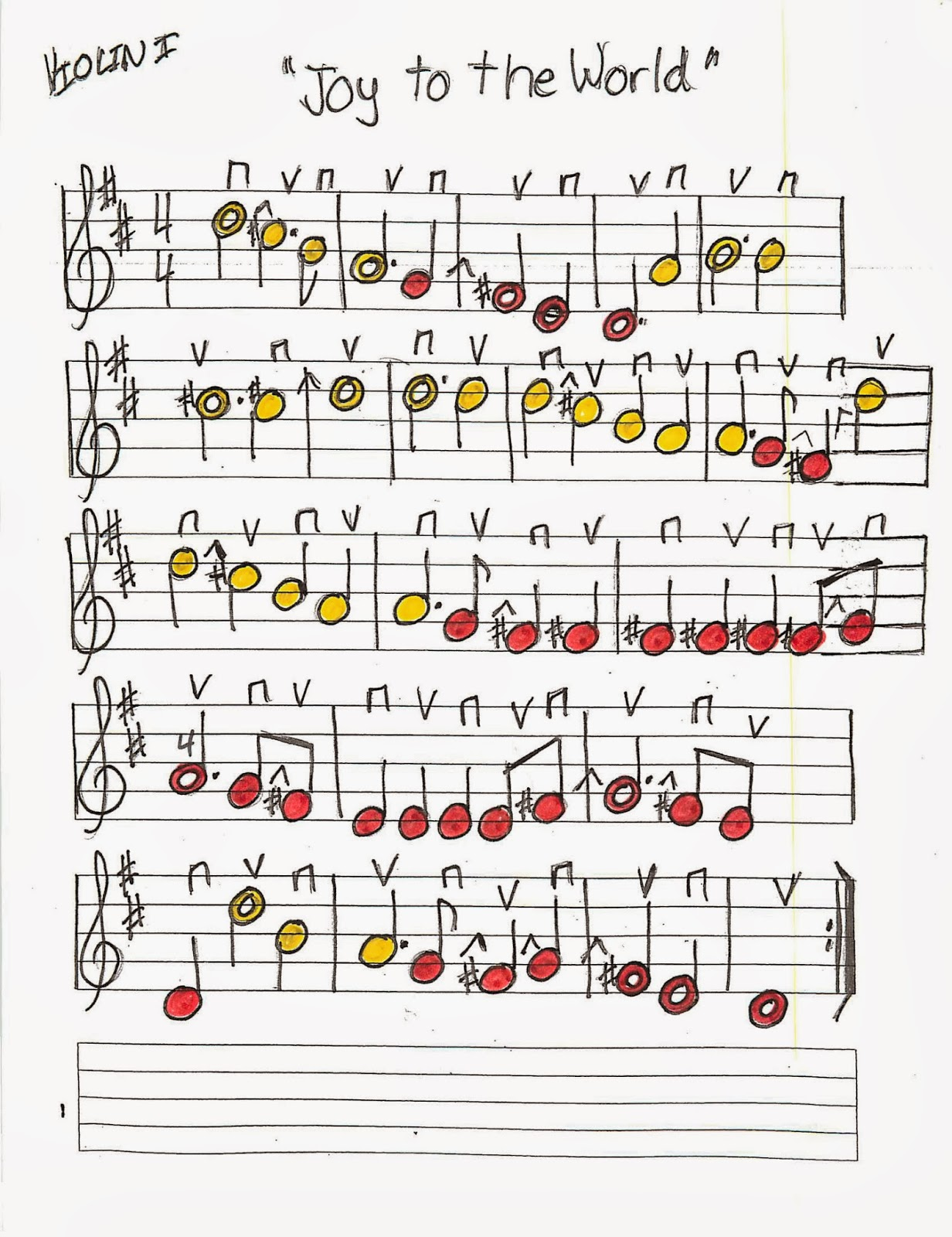 Ode To Joy Sheet Music For Beginner Violin